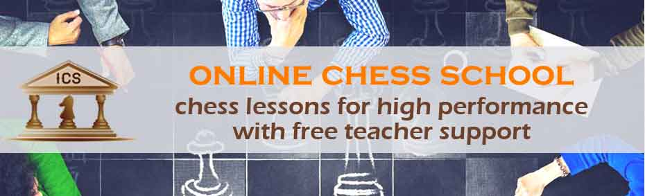 online chess school. high quality chess lessons with free teacher support